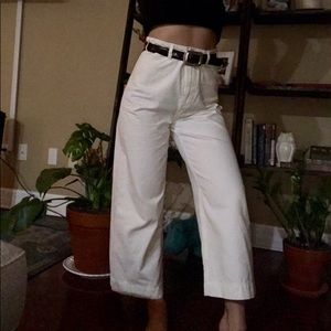 Free People cropped flare pants size 27